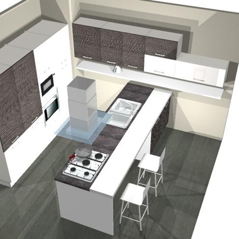 Cucina con isola rex cucine a prezzi scontati for Isola tavolo cucina