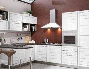 Cucina con penisola Cucina shabby line chic white in offerta convenienza Nuovi mondi cucine con uno sconto vantaggioso