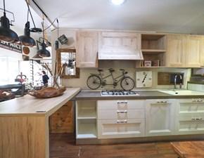 Cucina con penisola Cucina shabby white con penisola in offerta  Nuovi mondi cucine con uno sconto vantaggioso