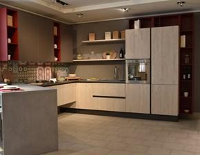 Cucina con penisola Erika Aran cucine con un ribasso vantaggioso