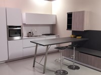 Cucina con penisola First by Snaidero color bianco in SUPER offerta OUTLET
