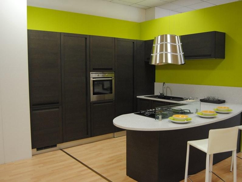 Cucina con penisola modello madeira rovere lavagna - Lavagna cucina design ...