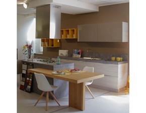 Cucina con penisola moderna Cedro Arrex a prezzo scontato
