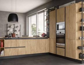 Cucina con penisola moderna Cucina moderna industrial metal   Nuovi mondi cucine a prezzo scontato