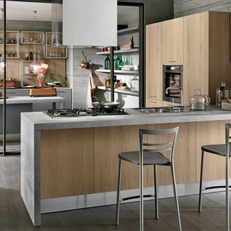 Cucina con penisola moderna in offerta prezzo oulet - Penisola cucina moderna ...