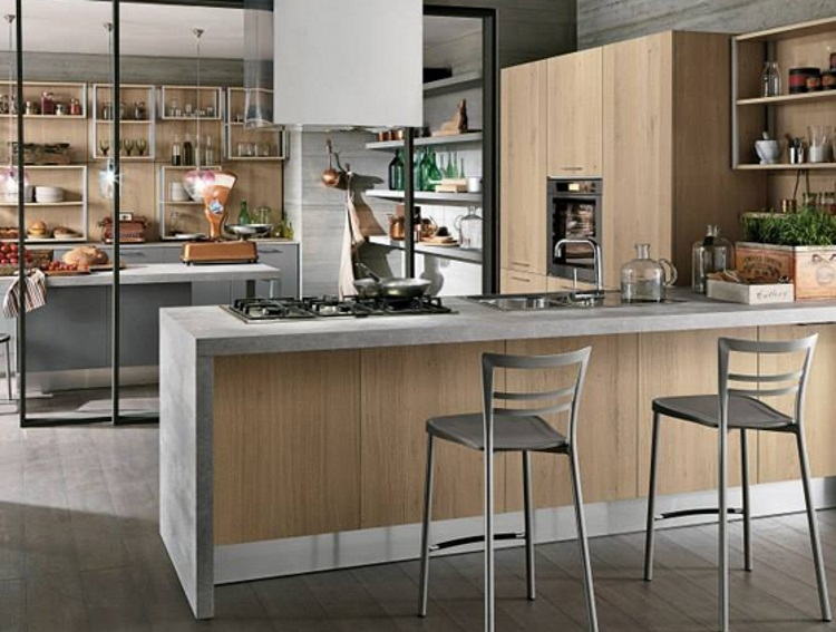 Cucina con penisola moderna in offerta prezzo oulet cucine a prezzi scontati - Cucina moderna con penisola ...