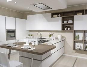 Cucina con penisola moderna Oyster Veneta cucine a prezzo scontato