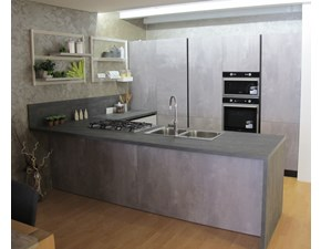 Cucina con penisola moderna Sky Lyons cucine a prezzo scontato