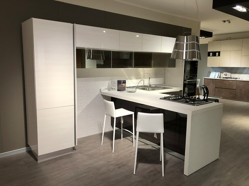 Cucina con penisola Replay di Stosa Cucine Offerta Outlet