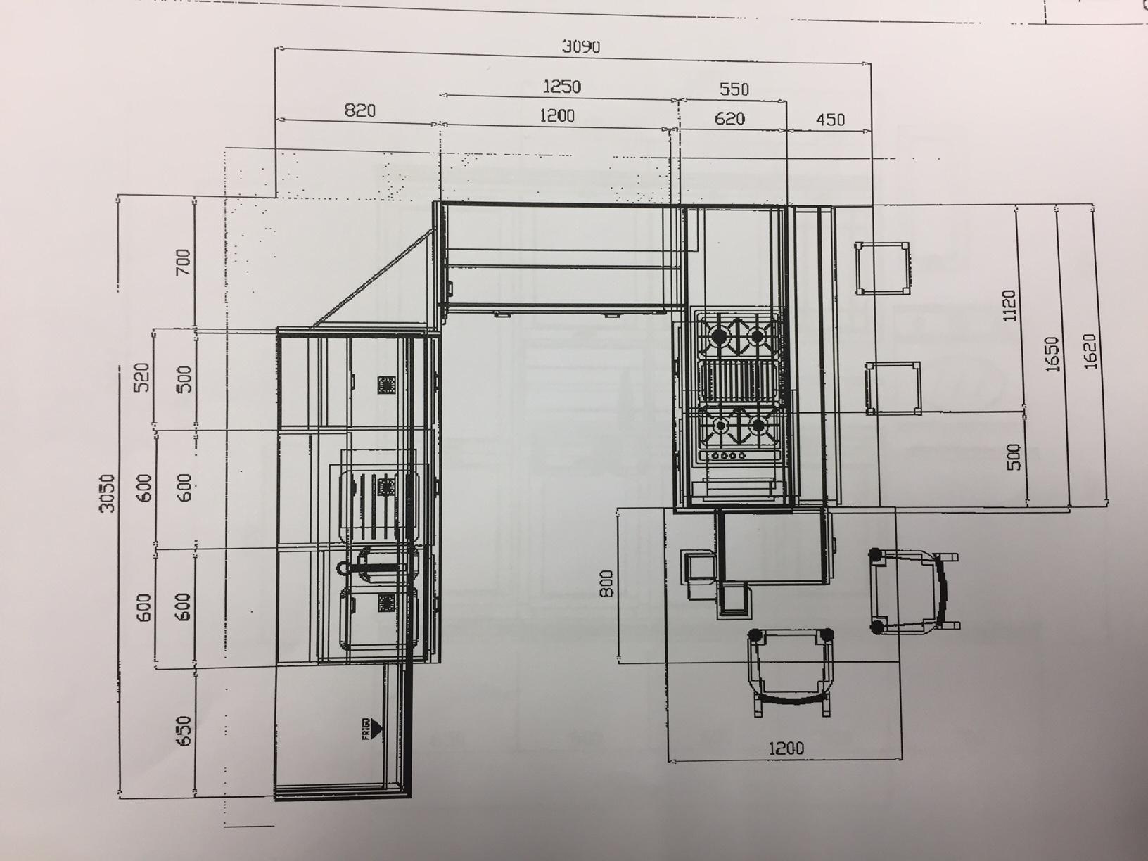 Zappalorto cucina terre di toscana design legno larice - Misure penisola cucina ...