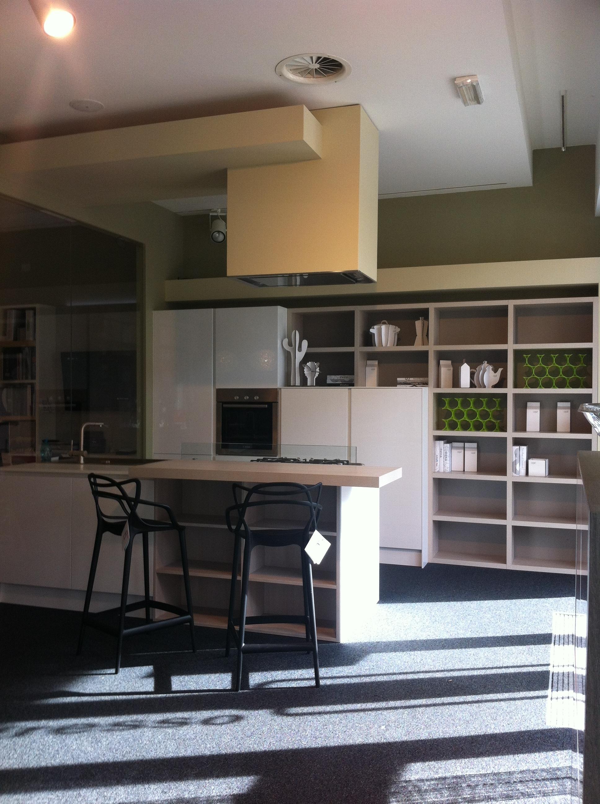 Cucina con penisola e zona libreria cucine a prezzi scontati - Cucina angolare con penisola ...
