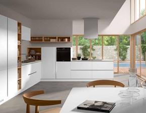 Cucina Corollla moderna bianca ad angolo Essebi cucine