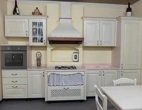 Cucina country bianca Antares lineare Petra in offerta