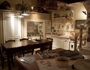 Cucina country bianca Marchi cucine ad angolo Incontrada in offerta