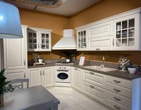 Cucina country bianca Scavolini ad angolo Baltimora in offerta
