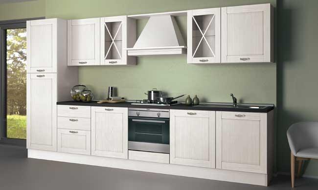 Cucina creo kitchens vivian classica legno bianca cucine a prezzi scontati - Cucina bianca classica ...
