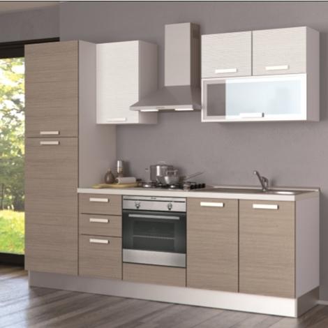Cucina creo kitchens alma melaminico l 255 moderna laminato materico rovere chiaro cucine a - Cucina creo jey prezzi ...