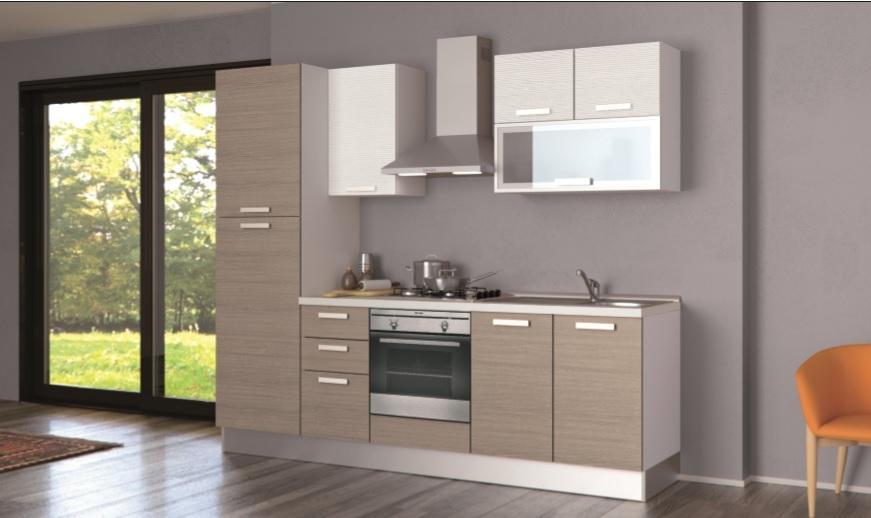 Cucina creo kitchens alma melaminico l 255 moderna - Colori pareti cucina in legno ...