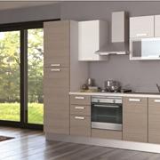cucina creo kitchens alma melaminico l 255 moderna laminato materico rovere chiaro