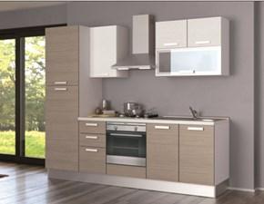 Cucina Creo Kitchens Alma melaminico l. 255 Moderna Laminato Materico rovere chiaro