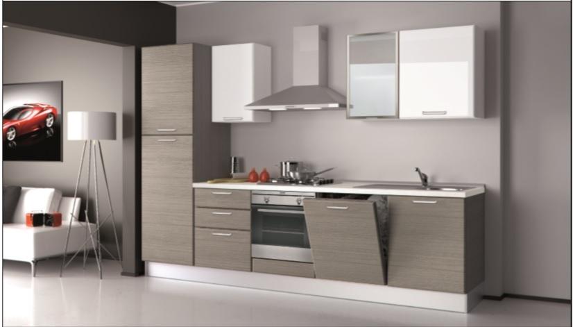 Cucina creo kitchens britt moderna polimerico opaco grigio - Cucine grigio perla ...