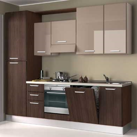 Cucina creo kitchens britt moderna polimerico lucido for Cucina tortora