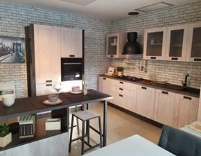 CUCINA Creo kitchens con penisola Kyra vintage abete bianco SCONTATA