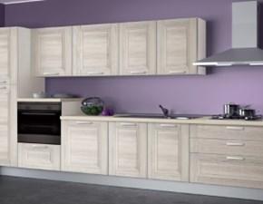 Cucina Creo Kitchens lineare in laminato materico grigio Mya a prezzo ribassato