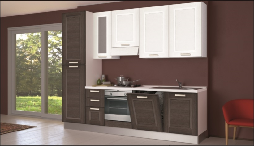 Cucina creo kitchens lube mya anta a telaio moderna laminato materico rovere moro cucine - Creo cucine lube ...
