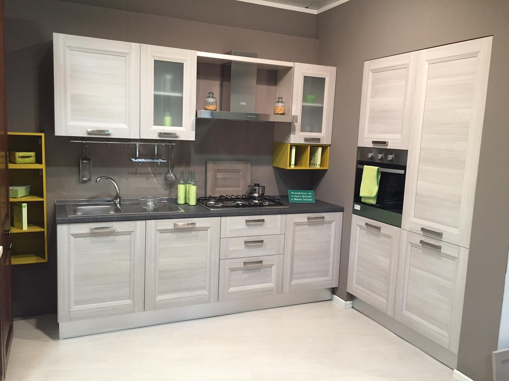 Cucina creo kitchens mya moderno laminato materico larice - Lunghezza cucina ...