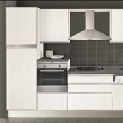Cucina Creo Kitchens Nita melaminico con gola l.330 Moderna Laminato Materico bianca