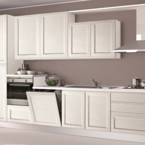 Cucina Creo Kitchens Selma gola Moderna Legno bianca - Cucine a ...