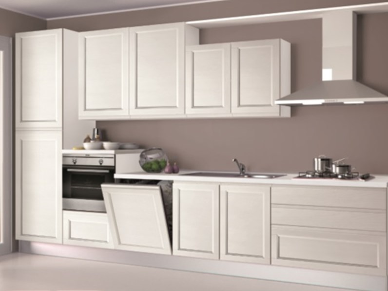 Cucina creo kitchens selma gola moderna legno bianca - Cucina laccata bianca ...