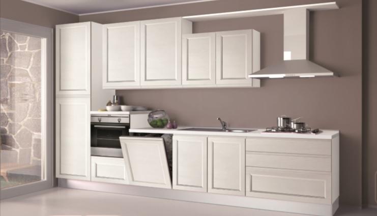 Cucina creo kitchens selma gola moderna legno bianca - Cucina legno bianco ...