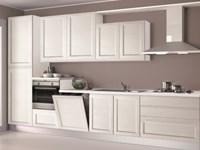 Cucina creo kitchens selma gola moderna legno bianca - Cucina tutta bianca ...