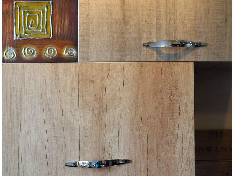 Cucina Cucina angolare con 4 colonne effetto legno moderna rovere ...