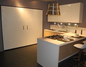 Cucina Cucina berloni modello eos a prezzo outlet moderna bianca con penisola Berloni cucine