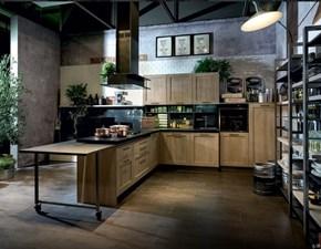 Cucina Cucina industrial angolare con penisola  industriale rovere chiaro ad angolo Nuovi mondi cucine