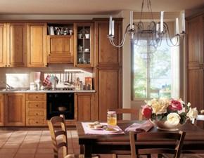 Cucina Cucina mod. diana con ante in castagno colore noce in promo-sconto del 45% classica noce lineare S75
