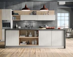 Cucina Cucina moderna con isola in offerta nuovimondi 2020  moderna rovere chiaro ad isola Nuovi mondi cucine