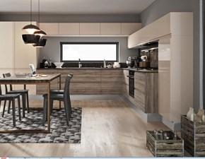 Cucina Cucina pura design completa con colonne laccato  corda e nocciola moderna tortora ad angolo Nuovi mondi cucine