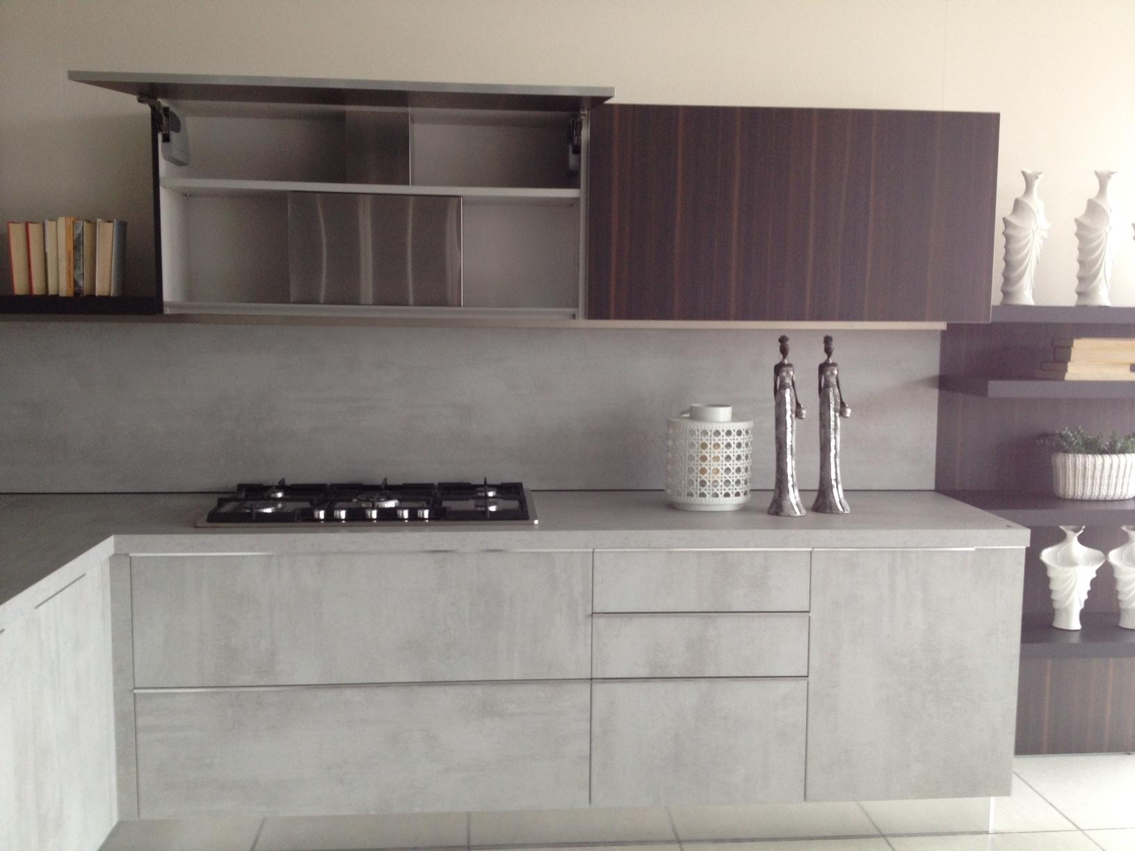 Cucina dada modello indada cucine a prezzi scontati - Cucina laminato effetto legno ...