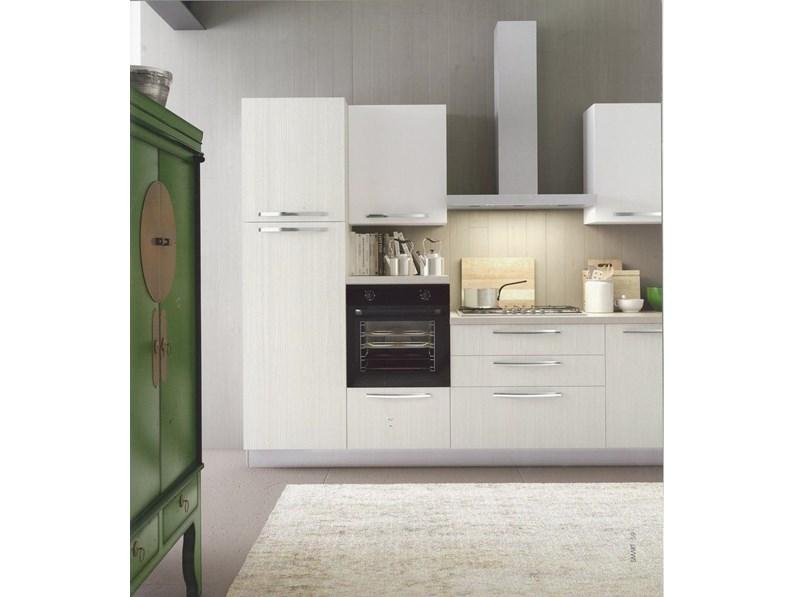 Cucina dal design moderno modello Cloe finitura lino Arredo3 cucine  personalizzabile