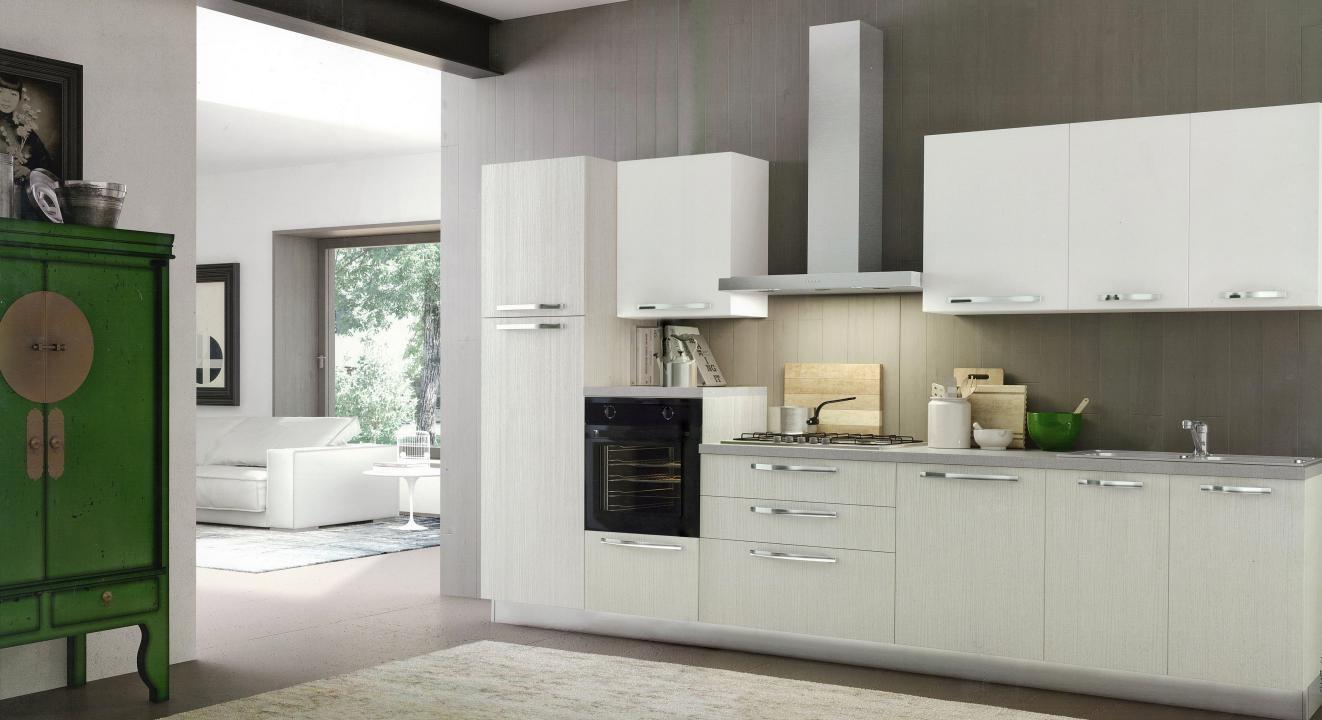 Cucina dal design moderno modello cloe finitura lino for Arredo cucina design
