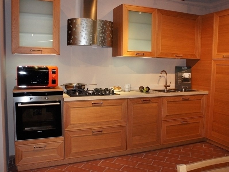 Cucina Del tongo Capalbio rovere cherry  OFFERTA OUTLET