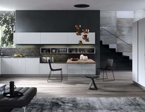Cucina design ad angolo Antares K18 lucida a prezzo scontato