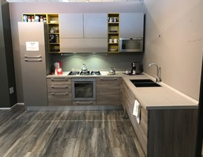 Cucina design ad angolo Lube cucine Noemi a prezzo scontato