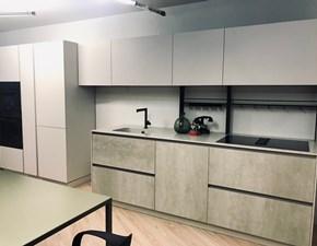 Cucina design bianca Doimo cucine lineare Easy + aspen in Offerta Outlet