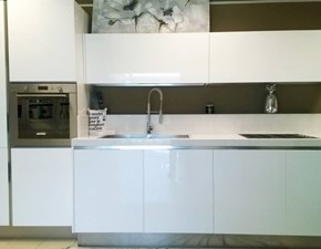 Cucina design bianca Spagnol cucine lineare Viva scontata
