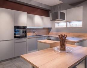 Cucina design con penisola Artigianale Touch a prezzo ribassato